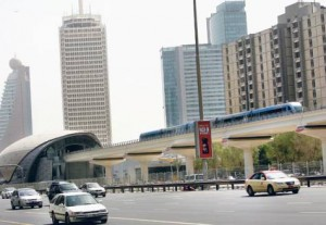 *  A train leaves the World Trade Centre station, which is one of the three new Dubai Metro stations opened by the Roads and Transport Authority on the Red Line yesterday.