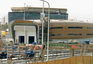 *  Al Ghusais Metro station, train depot and parking facility for passengers on Green Line is nearing completion.     * Image Credit: VIRENDRA SAKLANI/Gulf News
