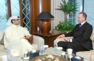 HE Hamad Buamim, Director General of Dubai Chamber with Anthony Parkes, Director of the World Chambers Federation.