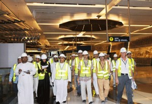 RTA chairman HE Mattar Al Tayer and team inspecting the Green Line