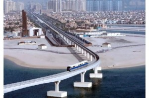 The Palm monorail does not link up with anything other than the Atlantis, The Palm. Paulo Vecina / The National