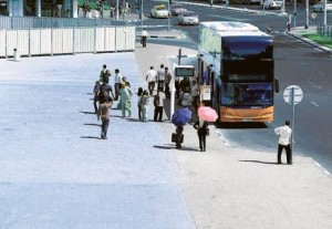 *  Out in the open Without a proper shelter, commuters waiting for buses at the Union Metro Station are having a hard time, according to Gulf News reader M.M. Ebrahim.     * Image Credit: M.M. Ebrahim/Gulf News Reader