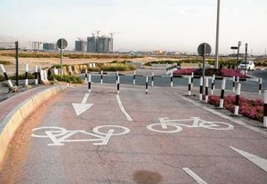 *  Work has been completed in the construction of cycling tracks extending 12km along Jumeirah Street, while work in other phases will proceed as per RTA's plan.     * Image Credit: Supplied