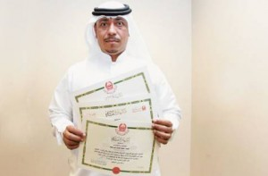 * Mahmoud Mousa Ali, a parking inspector at the RTA, shows the certificates which he received from the Dubai Police for helping them catch suspects and reporting crimes.     * Image Credit: Zarina Fernandes/Gulf News