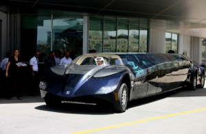 Sulayem takes the Superbus out onto the circuit at the beginning of the test drive.