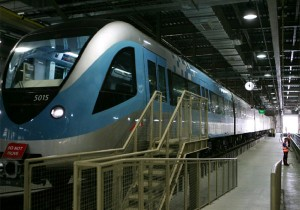 The Dubai metro system is the best in the world, so the maintenance standards are also the best a train enters the Light repair Workshop at Al Rashidiya maintenance yard.