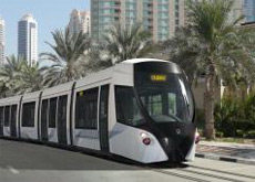 An artist's impression of the Al Sufouh tram.