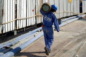 Doha's wastewater infrastructure is struggling to keep pace with a construction boom and resultant influx of people. Sean Gallup / Getty Images