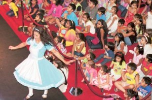 Image Credit: Arshad Ali/Gulf News     An artist performs a dance show at the Burjuman Shopping Centre as part of Dubai Summer Surprises.