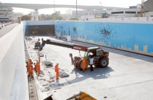 Image Credit: Virendra Saklani/Gulf News The last phase of work in full swing at the Rashid Hospital tunnels project which is set to ease traffic in the area.