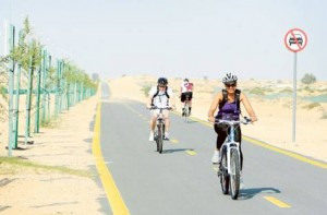 Image Credit: Zarina Fernandes/Gulf News So far, the RTA has completed around 100 kilometres of cycle tracks.