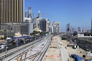 The Dubai Tramway Project under construction. The first tram was delivered by French company, Alstom. — Rahul Gajjar
