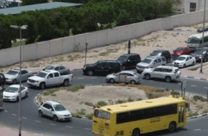 Image Credit: Atiq-ur-Rehman/Gulf News The exit and the two roundabouts leading to the Business Bay Metro station and Emarat Atrium on Umm Amara Street and Shaikh Zayed Road have seen heavy traffic jams.