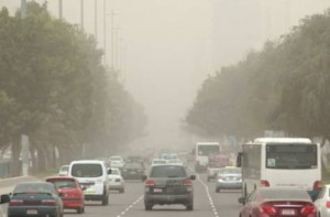 Image Credit:     Windy, hazy, and dusty weather in Abu Dhabi on Sunday. PHOTO: AHMED KUTTY/Gulf News