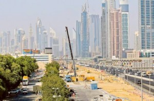 Image Credit: Ahmed Ramzan/Gulf News According to RTA, 25 per cent of the diversion works on Shaikh Zayed Road near Safa Park have been completed and the tracks will be ready by October 25