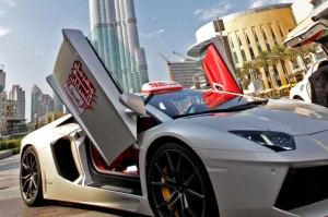 One of the ultra-luxury taxis at The Dubai Mall. — Supplied photo