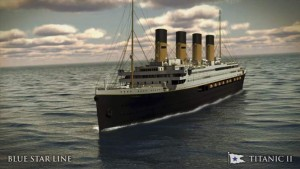 An undated artist's rendering of the proposed cruise ship Titanic II (Reuters)