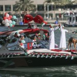 The National Day Boat Parade at Dubai Marina Yacht Club on Wednesday attracted a wide range of different types of watercraft decorated in the national colours for the waterborne extravaganza for the 44th National Day. Sarah Dea / The National