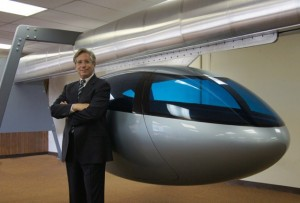 Jerry Sanders, the chief executive of SkyTran, is happy 'to be able to bring this path-breaking technology to the Middle East for the first time'. Courtesy Edelman
