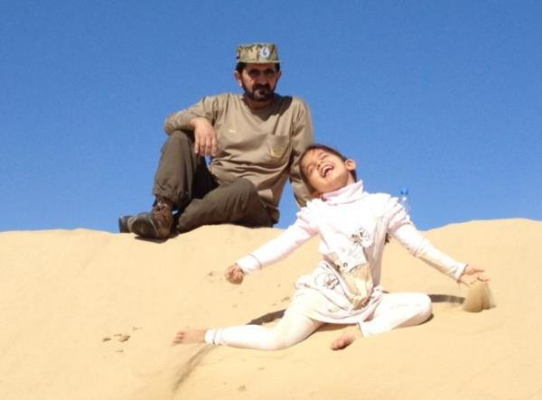Mohammed sejk legkisebb lányával