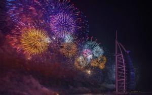 Burj al Arab szilveszteri tüzijáték