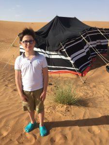Budai Marci 2017 december sivatag, Dubai