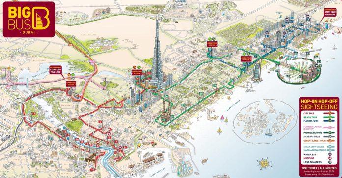 Dubai Bus Map