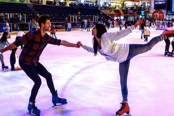Dubai Ice rink Freestyle Session
