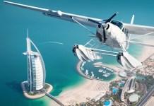 Seawings Plane Over Burj Al Arab