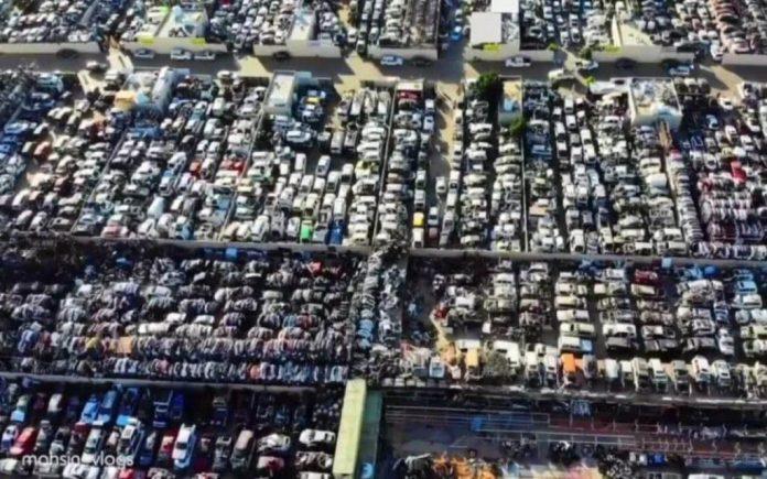 UAE Supercar dump yard