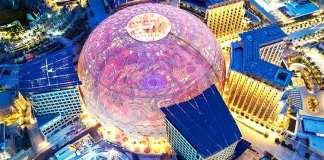 Dubai Exhibition Center in Pink Dubai Expo 2020