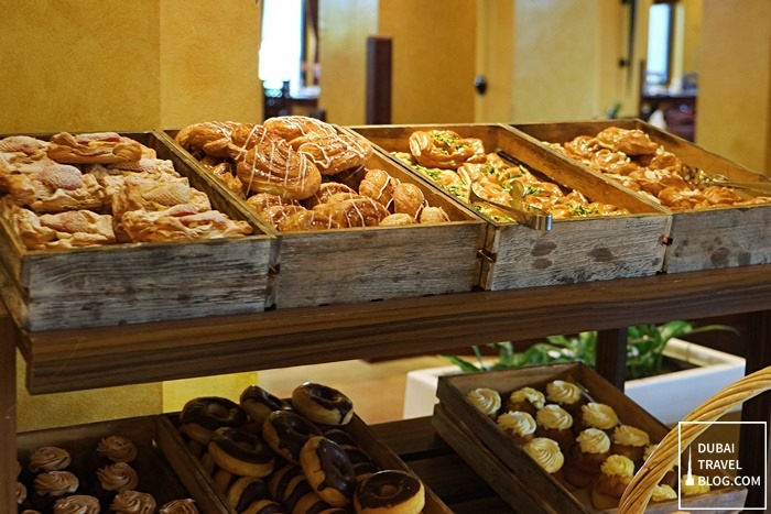 pastries at al forsan restaurant dubai