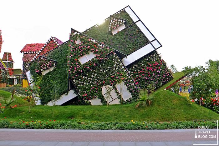 tilted house dubai miracle garden