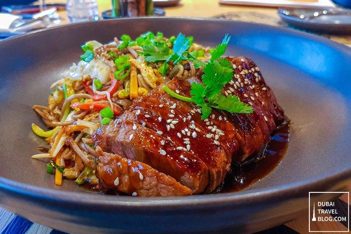beef teriyaki noodles sizzling wok