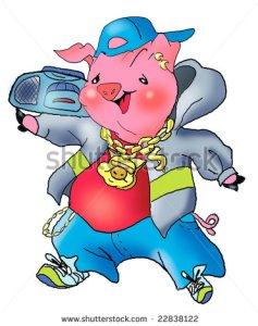 Do pigs rap?