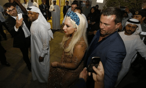 Lady Gaga arrives in Dubai (pic courtesy of Time Out Dubai)