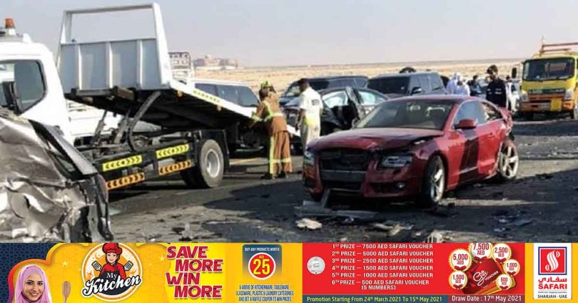 Abu Dhabi police say there have already been several serious road accidents in the UAE this year