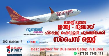 SpiceJet launches flight from India to Dubai from August_dubaivartha