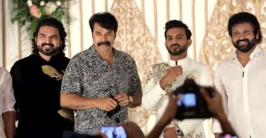 For the first time, Mammootty attended the new getup after his birthday for the wedding of an expatriate friend's daughter