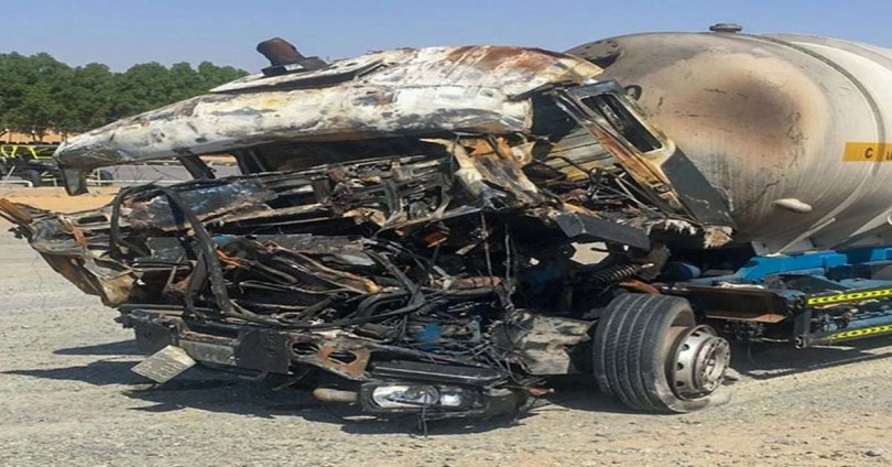 Two killed, one injured in truck collision in Sharjah