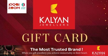 Gift cards from Kalyan Jewelers are available at Zoom outlets in the UAE