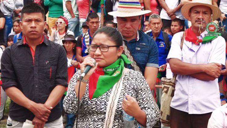 Colombie Cristina Bautista au milieu des siens
