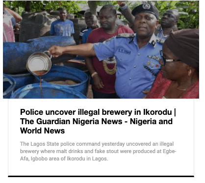 Was An Illegal Brewery Discovered In Lagos? #YES but It's