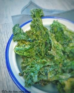 Chips kale aux épices
