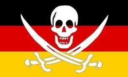 Bundes Republik als Verwalter zeigt Flagge