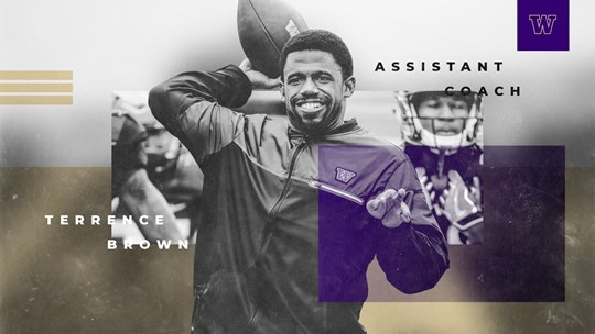 BREAKING: Terrence Brown Named To Husky Football Staff As Assistant Coach