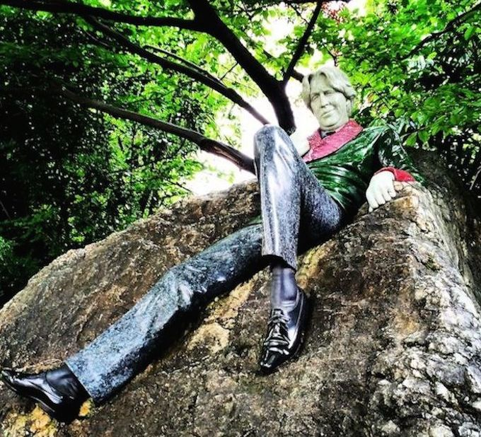 Oscar Wilde sculpture in Merrion Square, Dublin - Dublin LGBTQ Pride service 2016