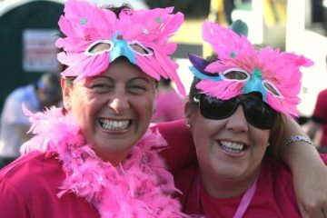 great pink run runners