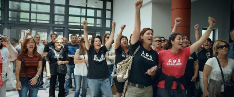 Women protest at Halkidiki Courthouse