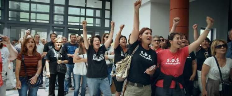Women protest at Halkidiki Courthouse
